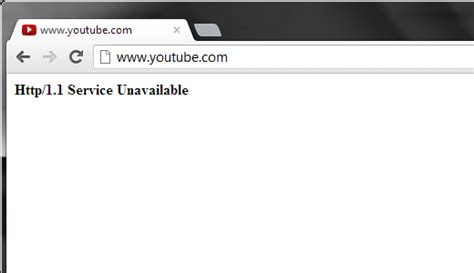service unavailable youtube is down http 1 1 service unavailable error