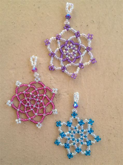 beaded snowflake patterns free 25 best ideas about bugle on seed bead