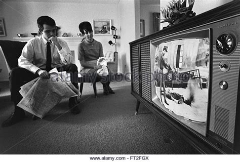 the living room war watching television 1960s stock photos watching