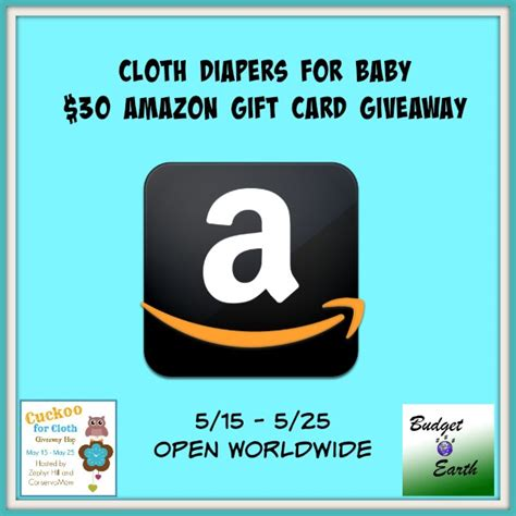 30 Amazon Gift Card - cloth diapers for baby 30 amazon gift card giveaway