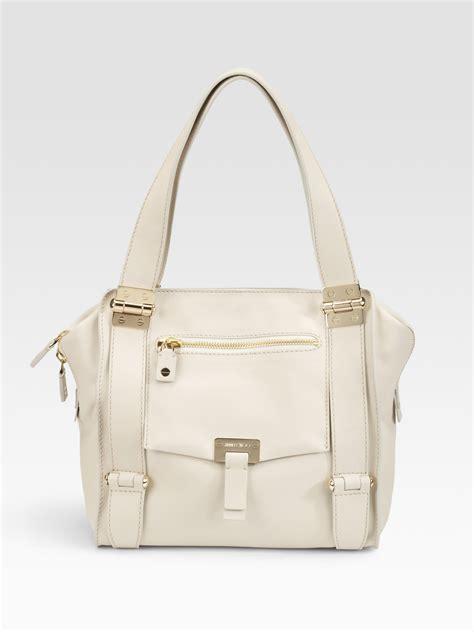 Jimmy Choo Dessy Holdall Handbag by Lyst Jimmy Choo Medium Leather Shoulder