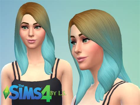 pretty sims cc hairstyles short ladyshadows ombre hairstyles set sims 4 custom content