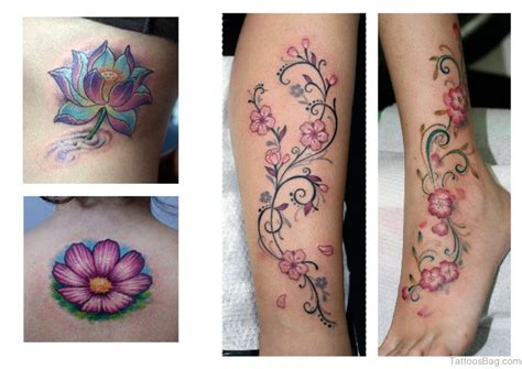 flower leg tattoo 50 flowers tattoos on leg