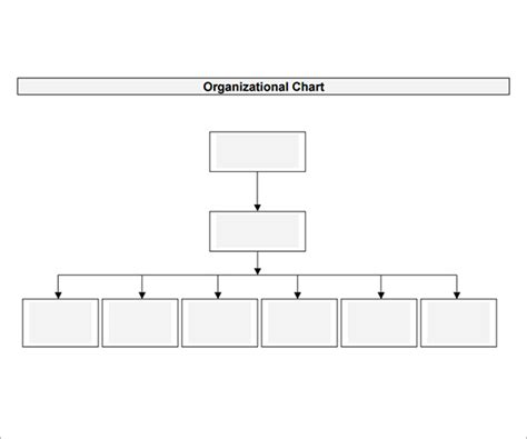 organizational chart templates free 7 best images of free printable blank organizational