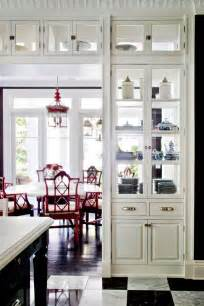 See Kitchen Glass Cabinet Partition Between Kitchen And Livingroom