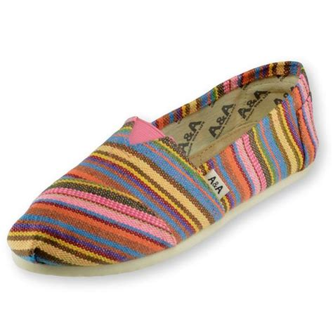 multicolored canvas slip on shoes for a a