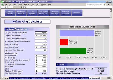 mortgage calculator planner refinance calculator