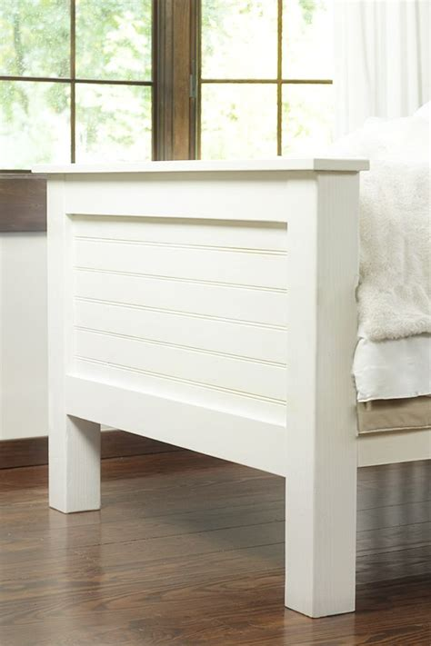 beadboard headboard plans diy bed frame made from tongue and groove planks planks
