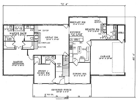 215 square feet southern style house plan 4 beds 3 baths 2789 sq ft plan