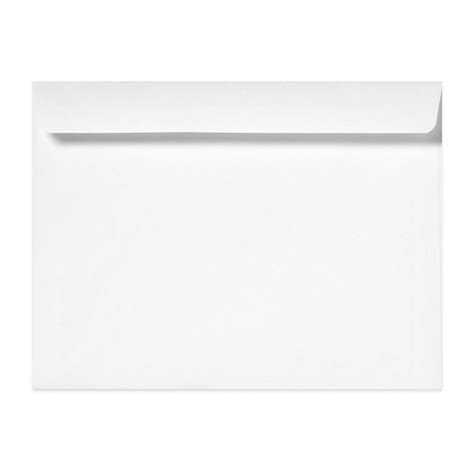 9 1 2 X 12 5 8 Shasta White Booklet Envelopes Kelly Paper 12x9 Envelope Template