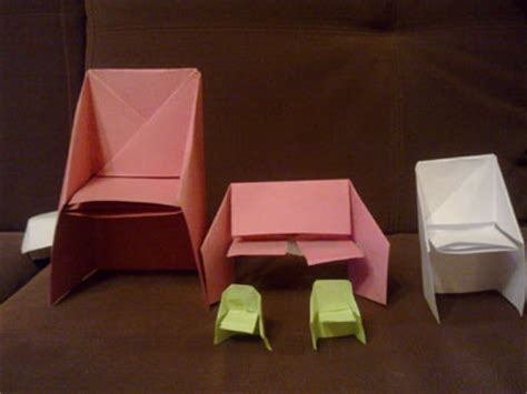 Easy Origami Chair - origami chair folding how to make an