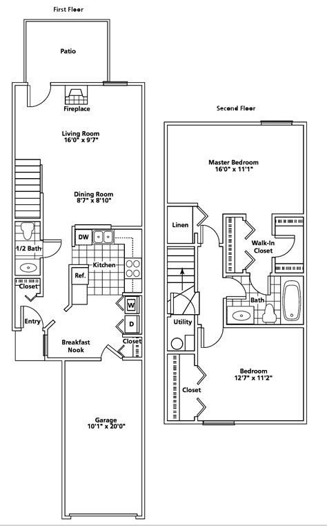townhomes floor plans stow oh apartment mannington place townhomes floorplans