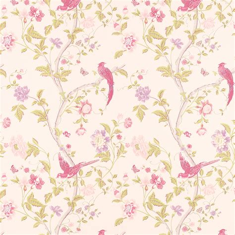 Flower Wallpaper Laura Ashley | summer palace cerise floral wallpaper at laura ashley