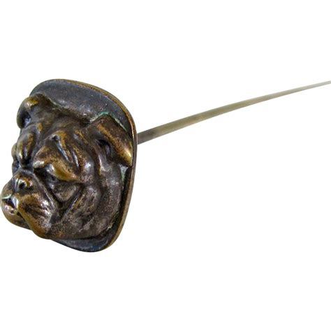 8 inch hat pin bulldog pug antique from antiquedog