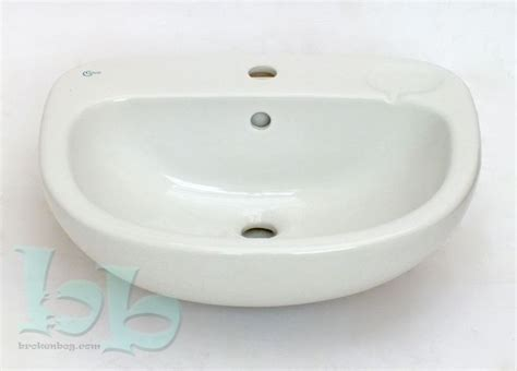 standard semi recessed sink ideal standard studio semi recessed basin sink one taphole