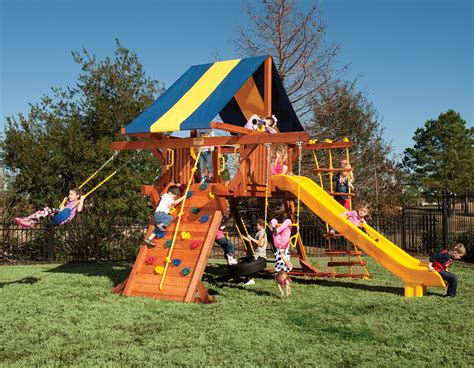 swing sets for small backyards 5 5 texan playcenter small backyard swing set