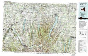 New York Topographic Map by New York Topo Maps Topographic Maps 1 100 000