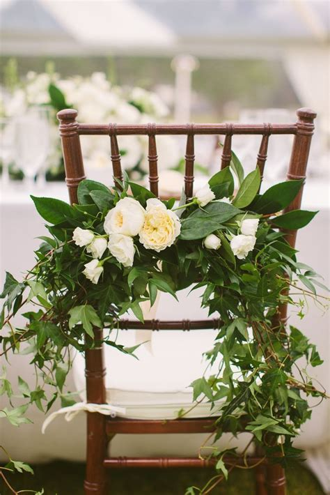 Ivory Floral Chair Swag   the fantasy 2.0   Pinterest