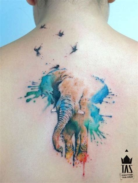 elephant tattoo on man s willy watercolor elephant tattoo on man upper back
