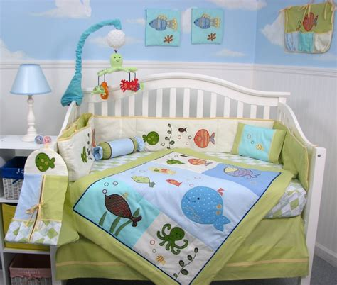 Fish Crib Bedding lambs and the sea baby bedding set baby bedding and accessories
