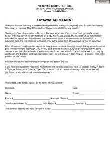 Layaway Agreement Template 6 best images of retail layaway forms printable free