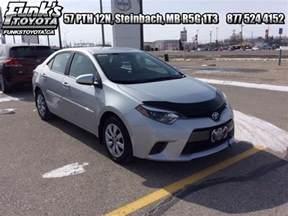 Toyota Corolla Economy 2016 Toyota Corolla Le Low Mileage 17 439 Steinbach