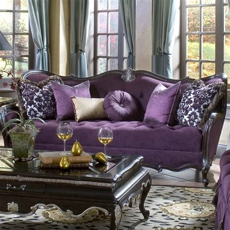 purple tufted sofa so so glam where the is