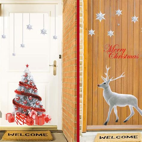 deer home decor diy electrostatic xmas deer mural wall sticker decals