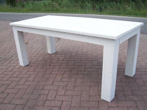 2e hands witte salontafel witte stoere tafel van steigerhout te koop aangeboden op