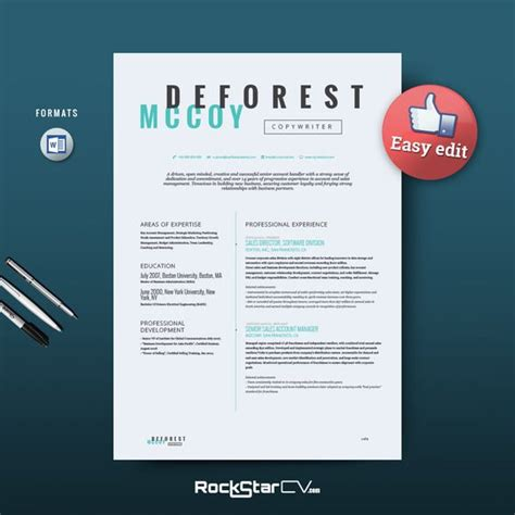 Copywriter Resume Template by Resume Template Perseus Copywriter Template And