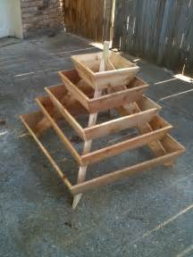 assembled pyramid planter herb garden strawberry planter