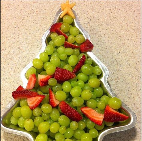 christmas fruit platter grape christmas tree christmas