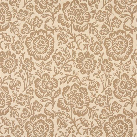 f401 beige and floral matelasse reversible upholstery