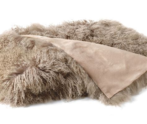 Throw Blankets With Pictures Tibetan Mongolian Lambskin Throw Fur Blanket In 4 Colors