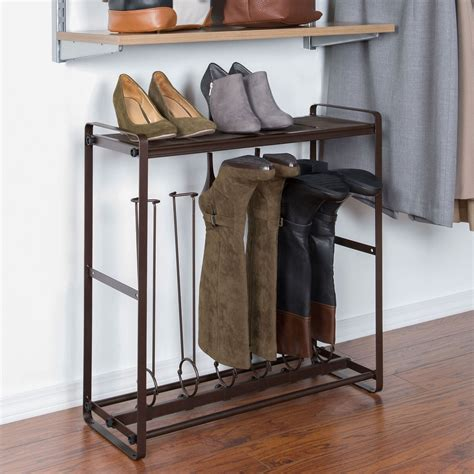 interlocking boot and shoe rack storage system