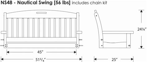 how to hang a porch swing between two trees polywoodfurniture com gt polywood 174 ns48 nautical porch swing