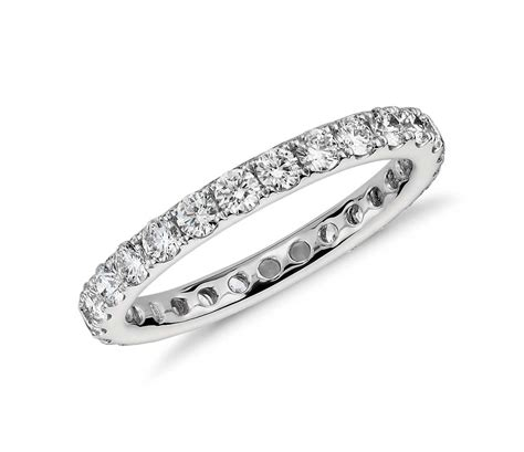 riviera pav 233 eternity ring in platinum 1 ct tw