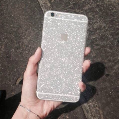 Gelitar Iphone 6 silver glitter sticker skin iphone 6 iphone 6 plus iphone
