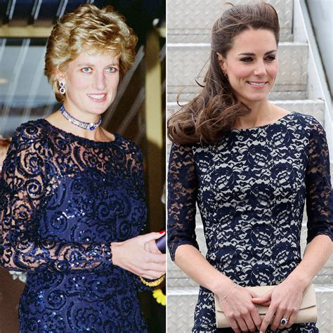 Gaun Diana Blue Maxi kate middleton and princess diana s twinning style