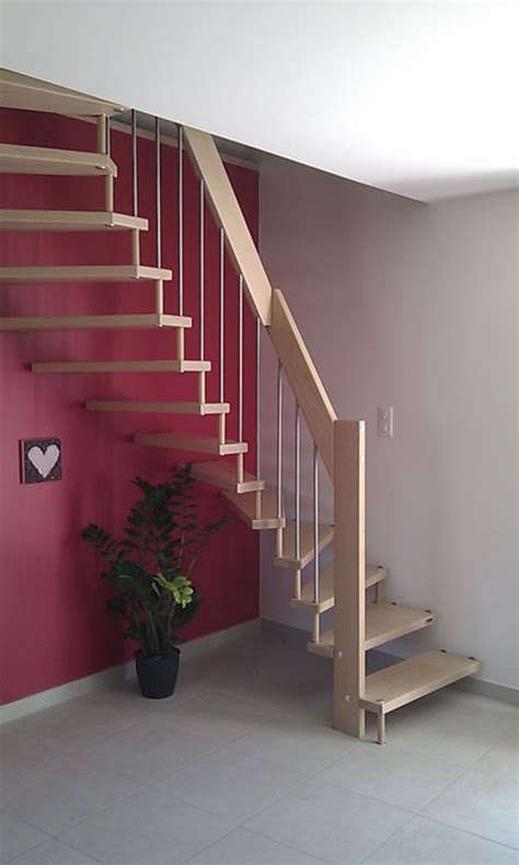 escalier demi tournant en bois metal pas cher l 233 ger farbicant drome