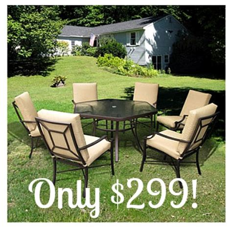 Albertsons Patio Set by Laredo 7 Sling Hexagon Patio Dining Set Only 299
