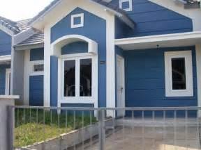 pilihan contoh warna cat rumah bagian depan renovasi rumah net