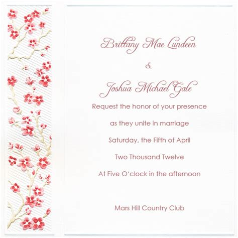 9 Best Images Of Printable Blank Invitation Paper Free Cherry Blossom Invitation Template