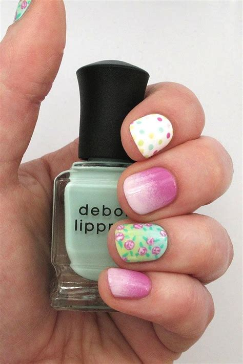nail art tutorial websites ombre nail art tutorial florals and dots and gradients