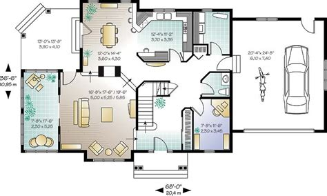 small house plans with loft bedroom kitchen room pinterest small open concept kitchen house