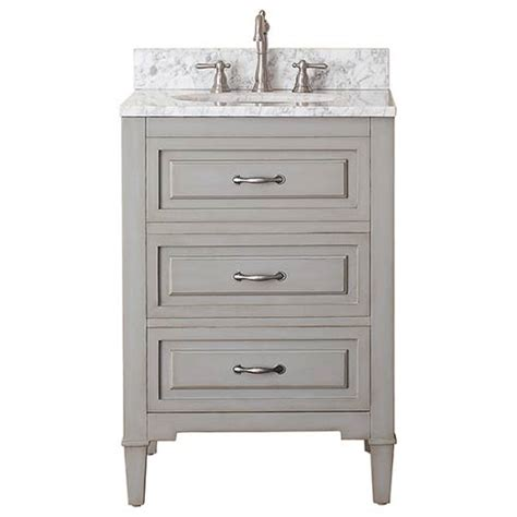 24 Bathroom Vanity Combo Grayish Blue 24 Inch Vanity Combo With White Marble Top Avanity