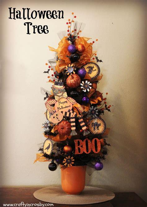 crafty in crosby vintage halloween tree