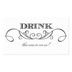 Complimentary Drink Ticket Template by Modern White Black Swirl Wedding Drink Ticket