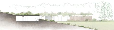 partially underground house plans eco house somerset mjw architects