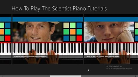 tutorial piano the scientist how to play the scientist piano tutorials for windows 10